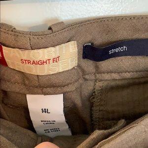 GAP Pants - GAP tan trousers, size 14 long